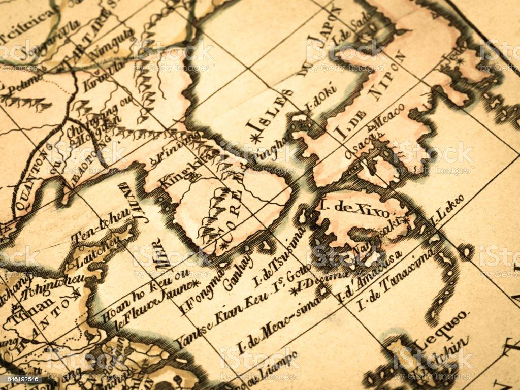 Old map korean peninsula and east asia stock photo more pictures old map korean peninsula and east asia royalty free stock photo gumiabroncs Images
