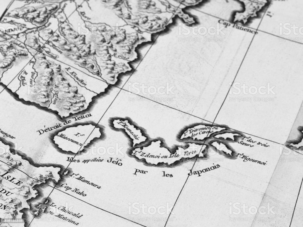 Old Map Kuril Islands Stock Photo - Download Image Now - iStock Kuril Islands Map on lake baikal map, novaya zemlya map, attu island, senkaku islands, volga river map, taiwan strait map, sea of okhotsk, kyushu map, indonesia map, spratly islands map, ryukyu islands, honshu map, yellow sea, shikoku map, dniester river map, lake balkhash map, sakhalin island map, caucasus mountains map, aleutian islands, aleutian islands map, spratly islands, okinawa island, ky�sh�, mekong river map, kamchatka peninsula, siberia map, ryukyu islands map, bonin islands map, falkland islands, severnaya zemlya map,