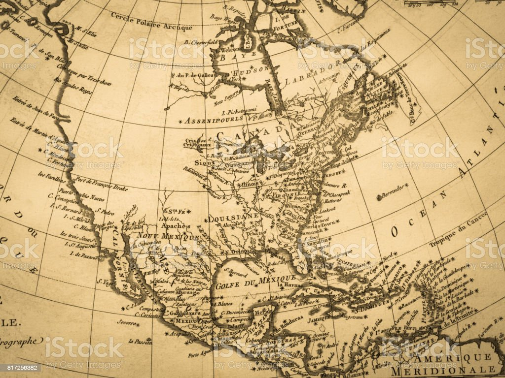 Old map north american continent stock photo more pictures of 18th old map north american continent royalty free stock photo gumiabroncs Image collections