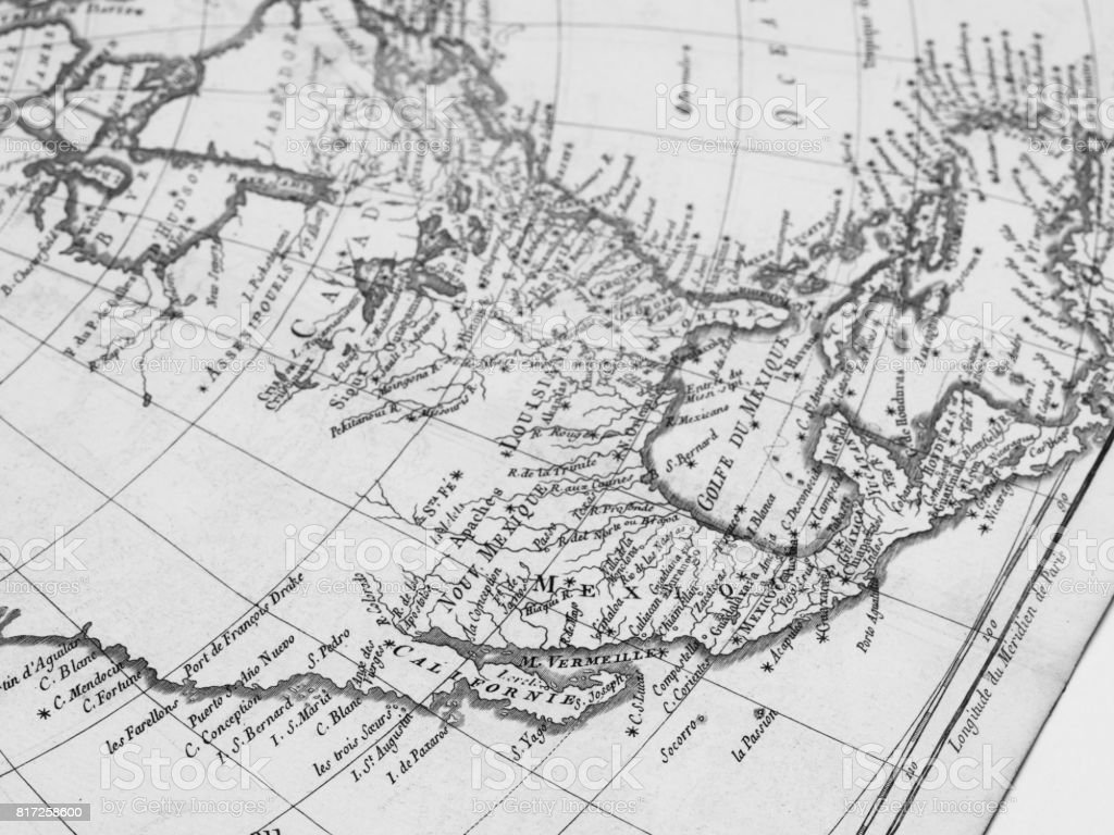 Old Map North American Continent Stock Photo More Pictures Of 18th
