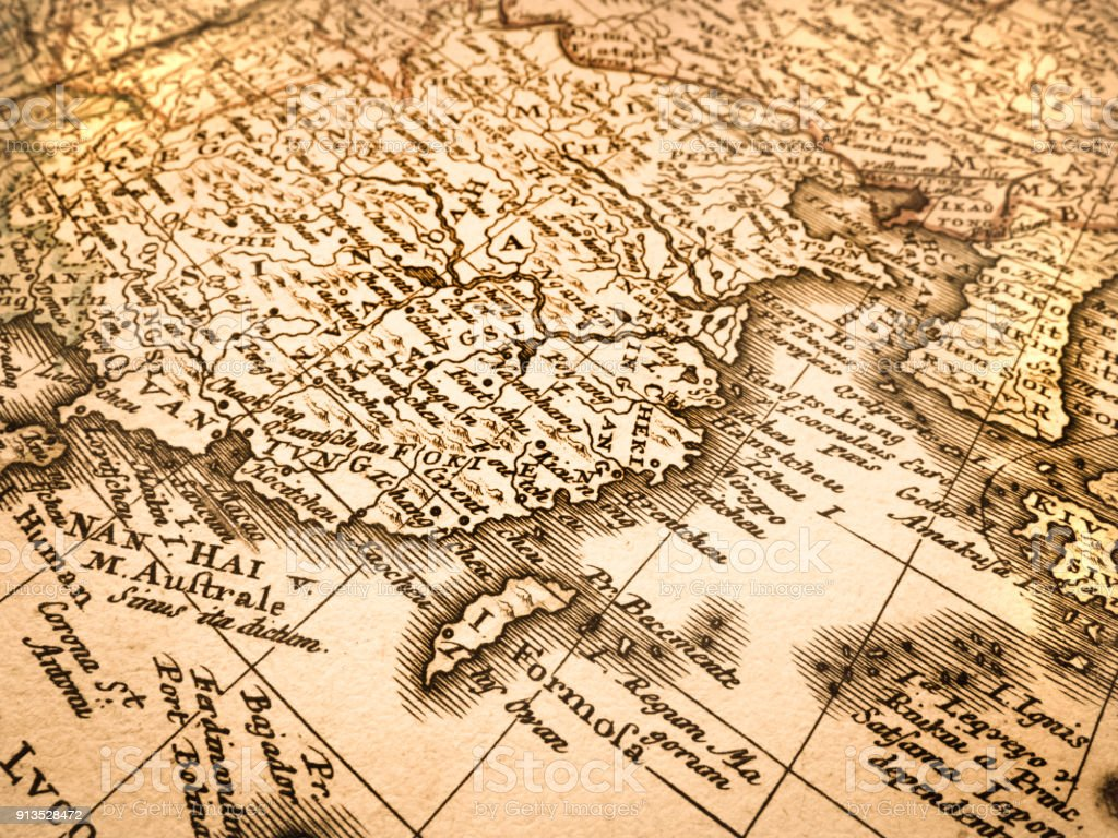 Old map of china and taiwan stock photo more pictures of 18th old map of china and taiwan royalty free stock photo gumiabroncs Choice Image