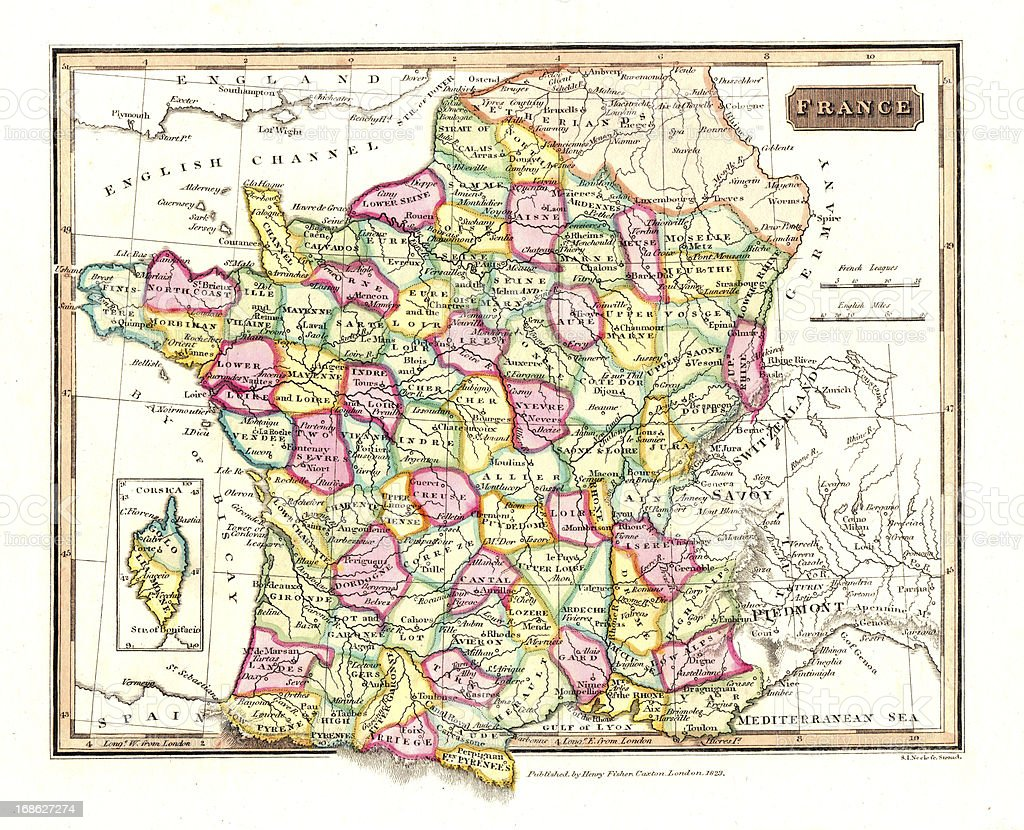Old Map Of France.Old Map Of France Stock Photo Download Image Now Istock