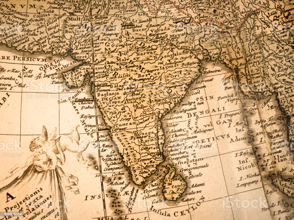 Old Map Of India Stock Photo More Pictures Of 18th Century Istock