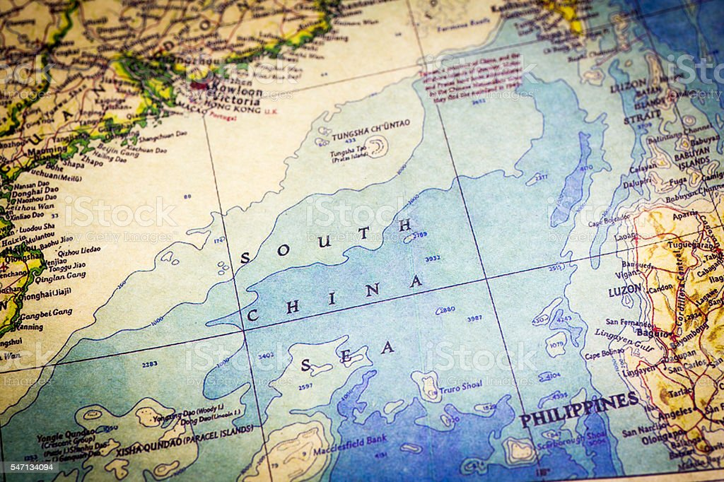 Old map of south china sea stock photo more pictures of business old map of south china sea royalty free stock photo gumiabroncs Gallery