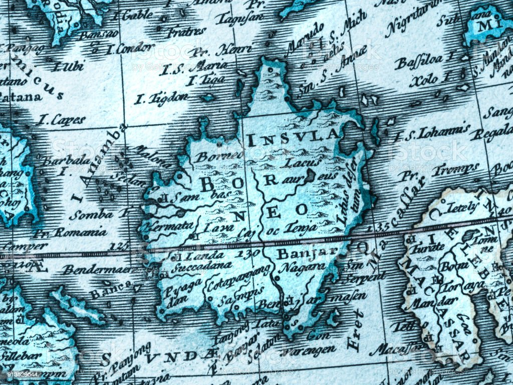 Old Map Of Southeast Asia Stock Photo - Download Image Now