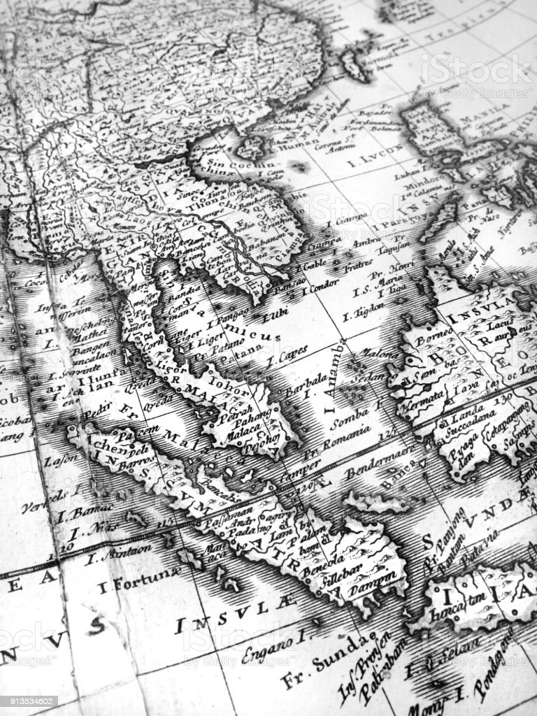 Old Map Of Southeast Asia Royalty Free Stock Photo