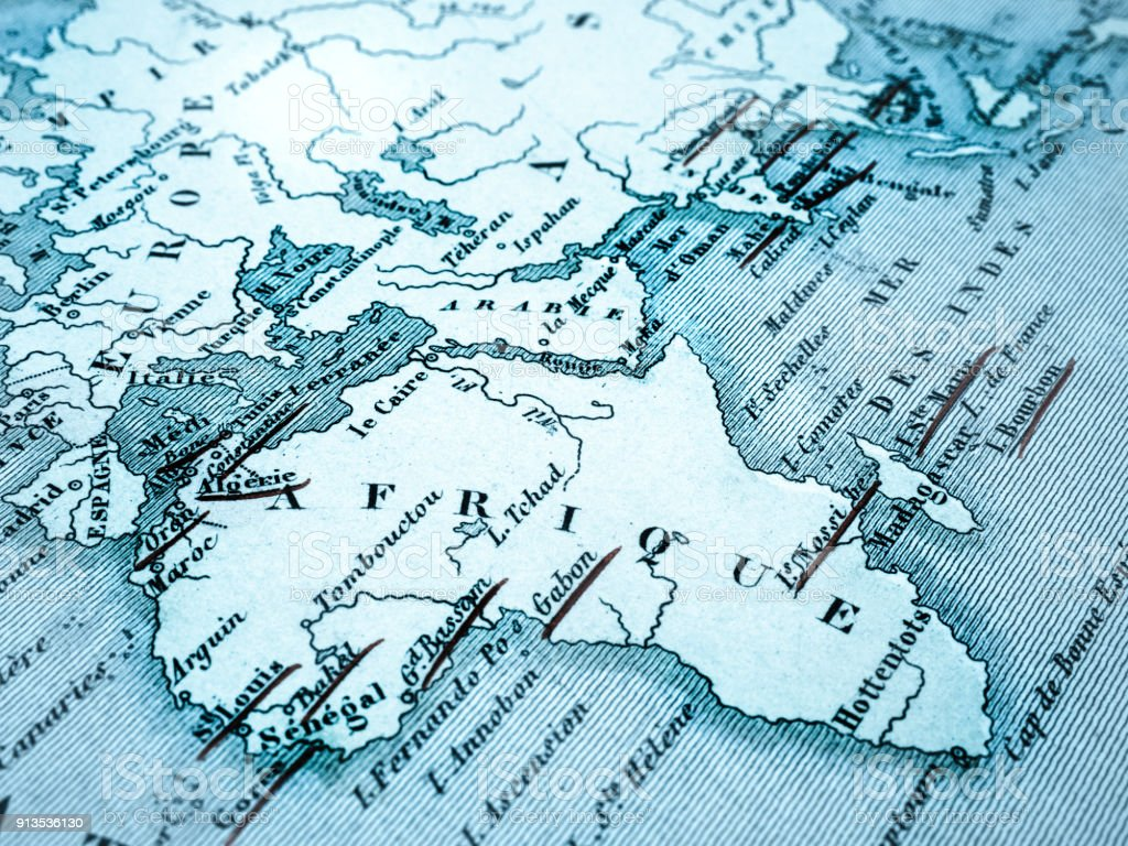 Old Map Of The Continent Of Africa Stock Photo More Pictures Of