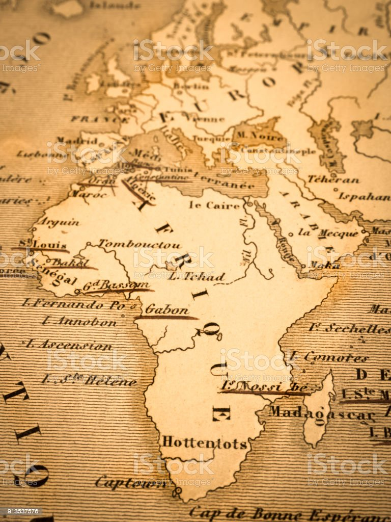 Old map of the continent of africa stock photo more pictures of old map of the continent of africa royalty free stock photo gumiabroncs Gallery