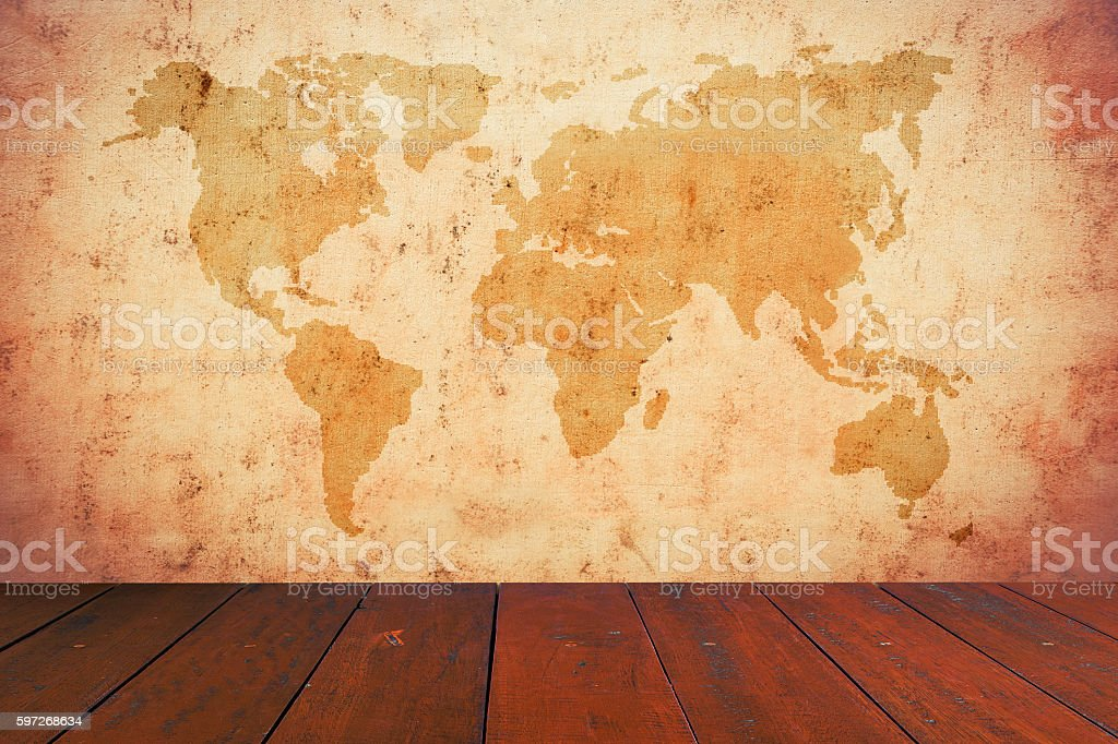 old map of the world royalty-free stock photo