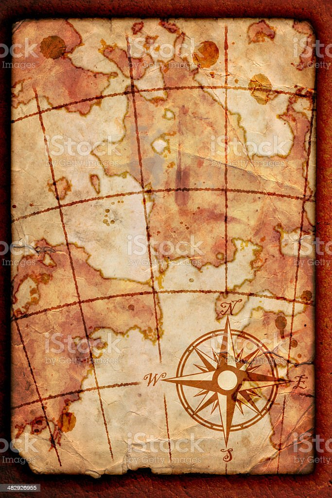 old map stock photo