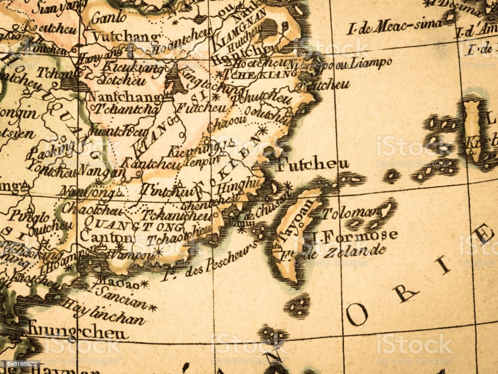 Old Map Taiwan Stock Photo & More Pictures of 18th Century | iStock