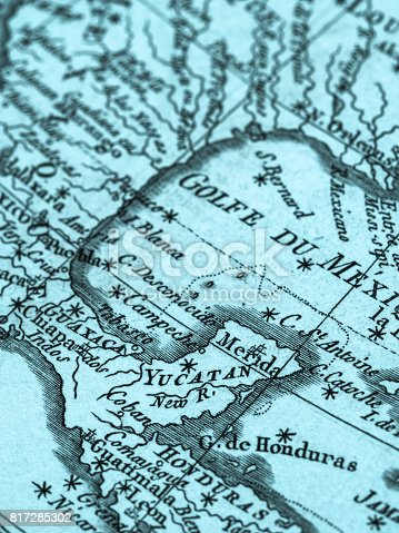 Old map yucatan peninsula and gulf of mexico stock photo more old map yucatan peninsula and gulf of mexico stock photo more pictures of 18th century istock gumiabroncs Choice Image