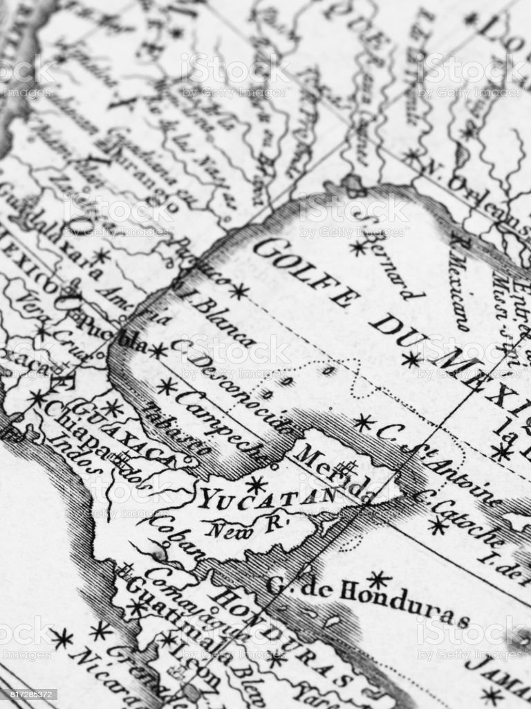 Old Map Yucatan Peninsula And Gulf Of Mexico Stock Photo - Download Yucatan Map Of North on map of vegas beach, map of italy, map of playa del carmen attractions, map of cancun, map of celestun, map of pacific lowlands, map of costa rica, map of hadramawt, map of isla mujeres, map of caribbean, map of patzcuaro, map of mexico, map of taxco, map of merida, map of quintana roo, map of riviera maya, map of belize, map of punta allen, map of mahahual, map of veracruz,