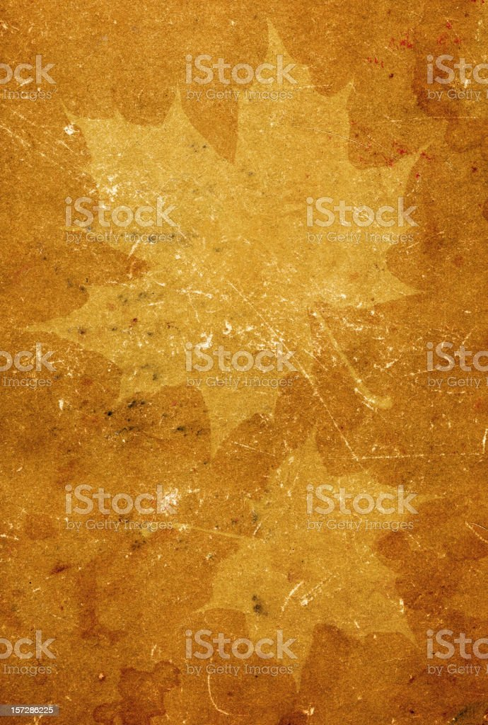 Old mapleleaf textured paper royalty-free stock photo