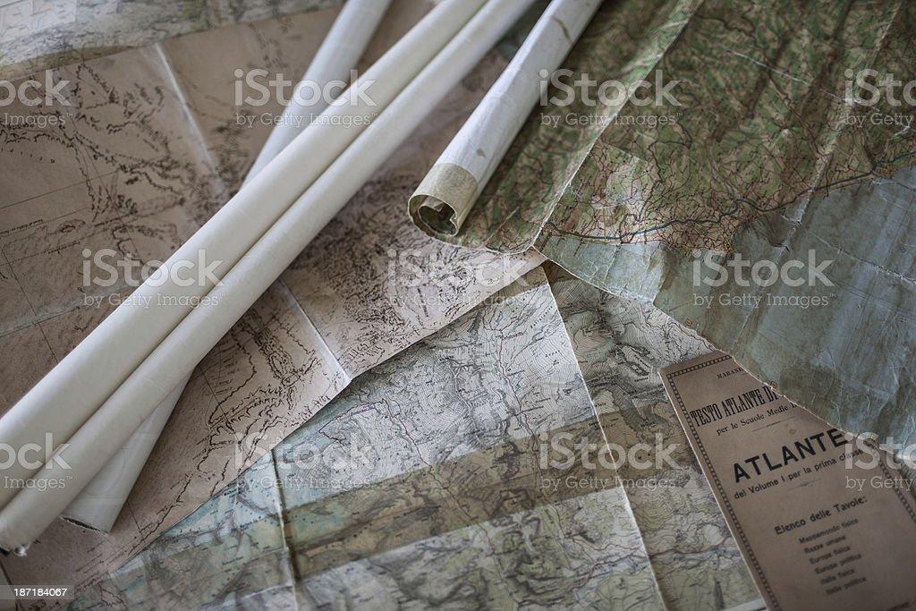 Old maps and italian school Handbook