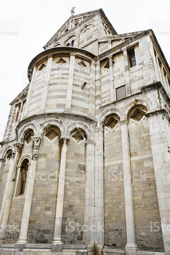 Old Marble Church in Pisa Italy royalty-free stock photo