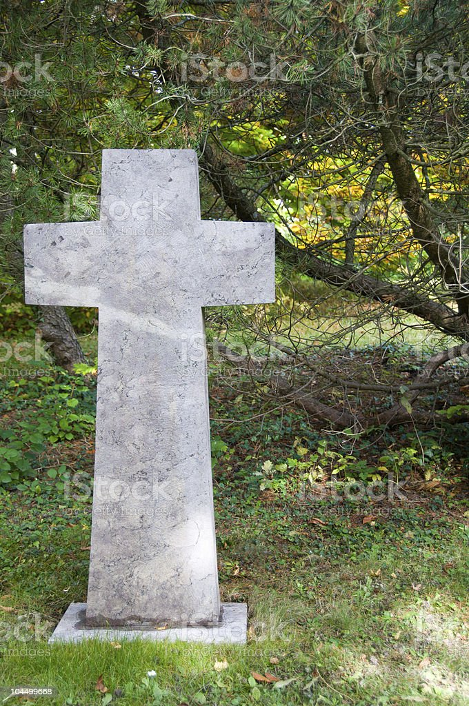Old Marble cross stock photo