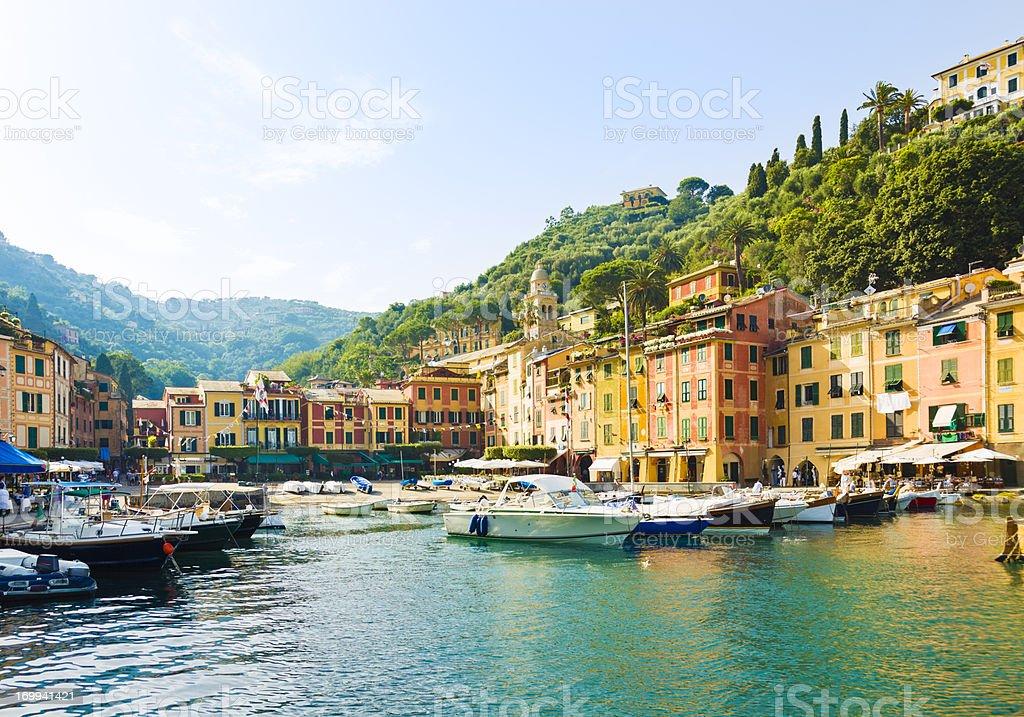 Old marina in Portofino, Italy stock photo