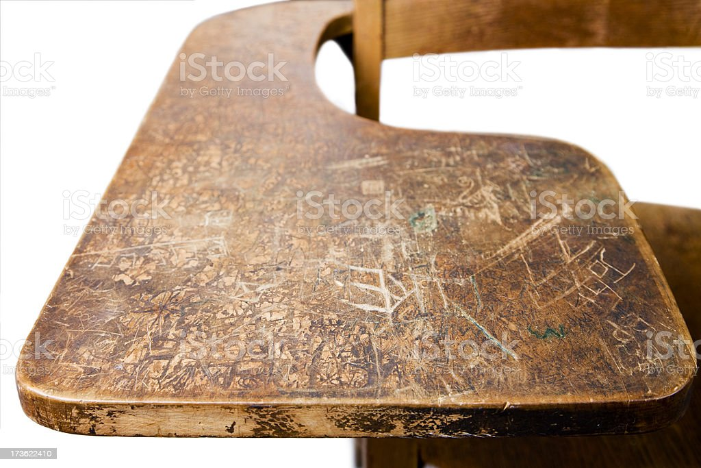 Old Marked Up School Desk Stock Photo - Download Image Now ...