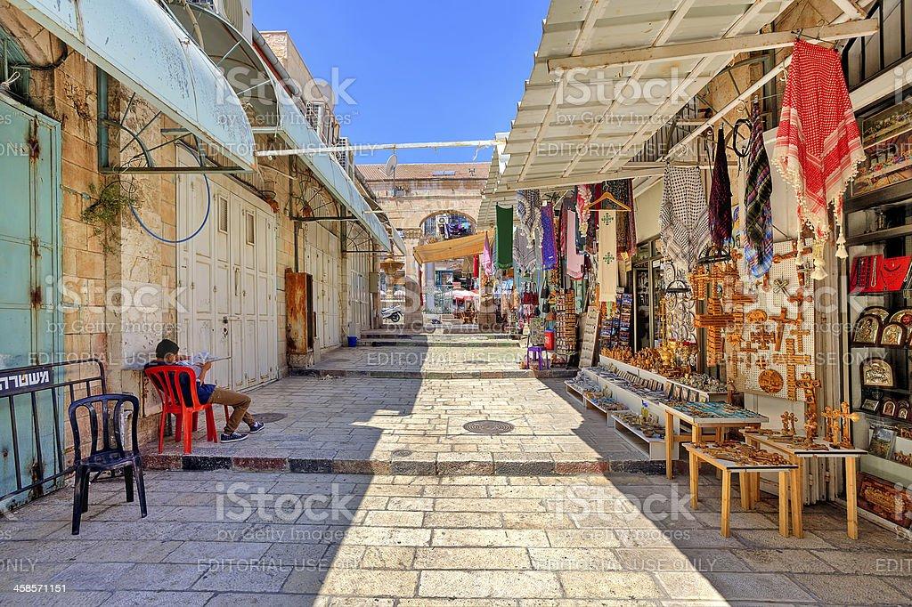 Old market in Jerusalem. royalty-free stock photo