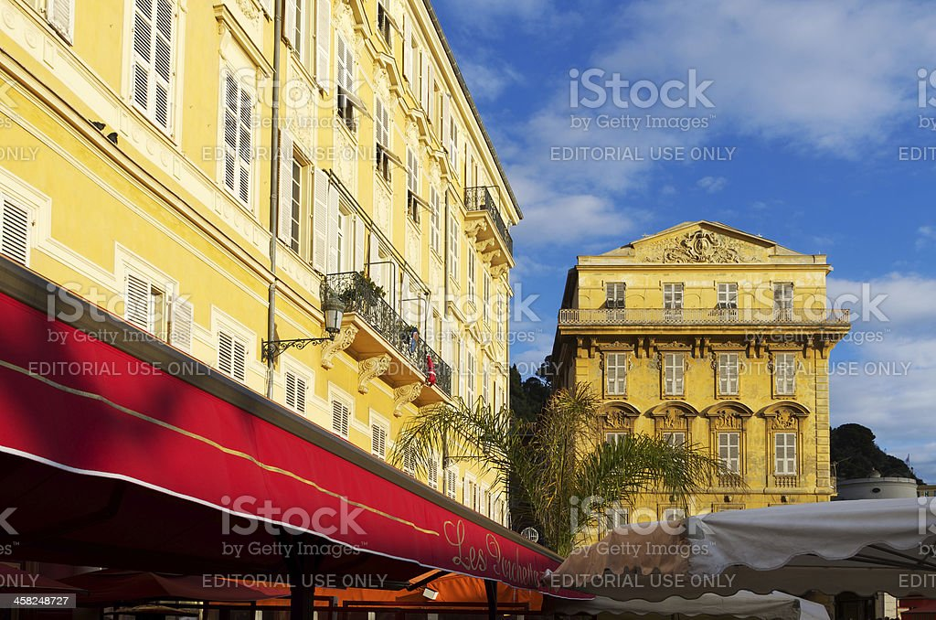 Old market in Nice, France stock photo