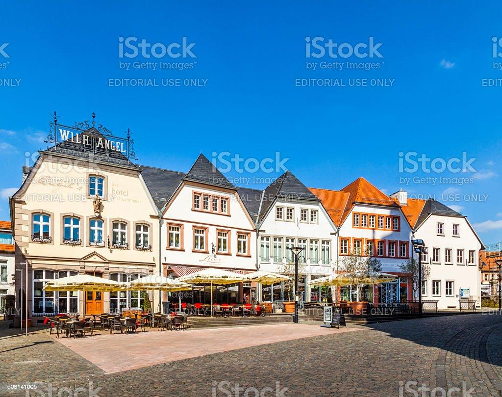 old market place in St. Wendel, Fruitmarket stock photo