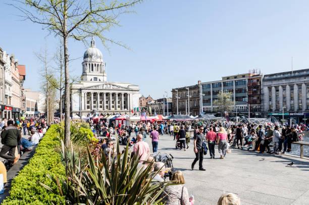 Old Market Square, Nottingham stock photo