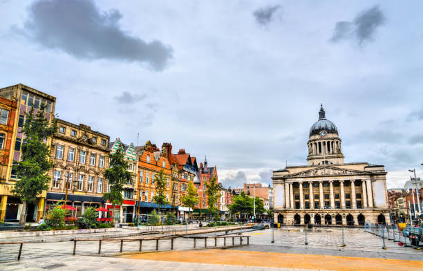 Old Market Square with Nottingham City Council, England stock photo