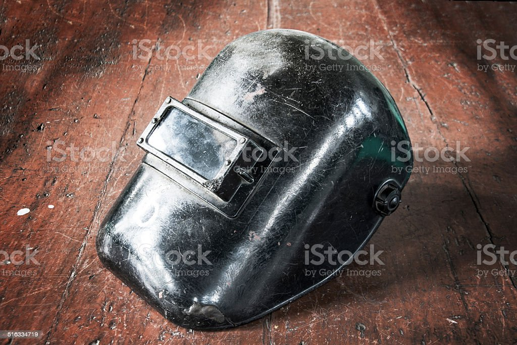 old mask protect welding stock photo