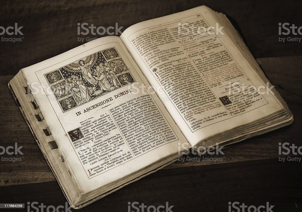 old mass book stock photo