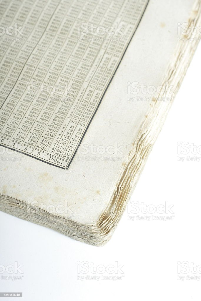 old math book - Royalty-free Ancient Stock Photo