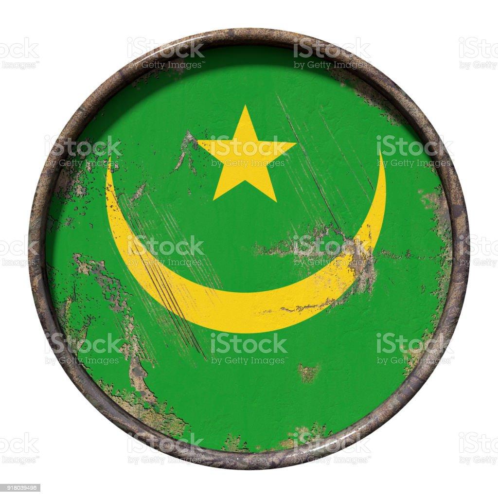 Old Mauritania flag stock photo