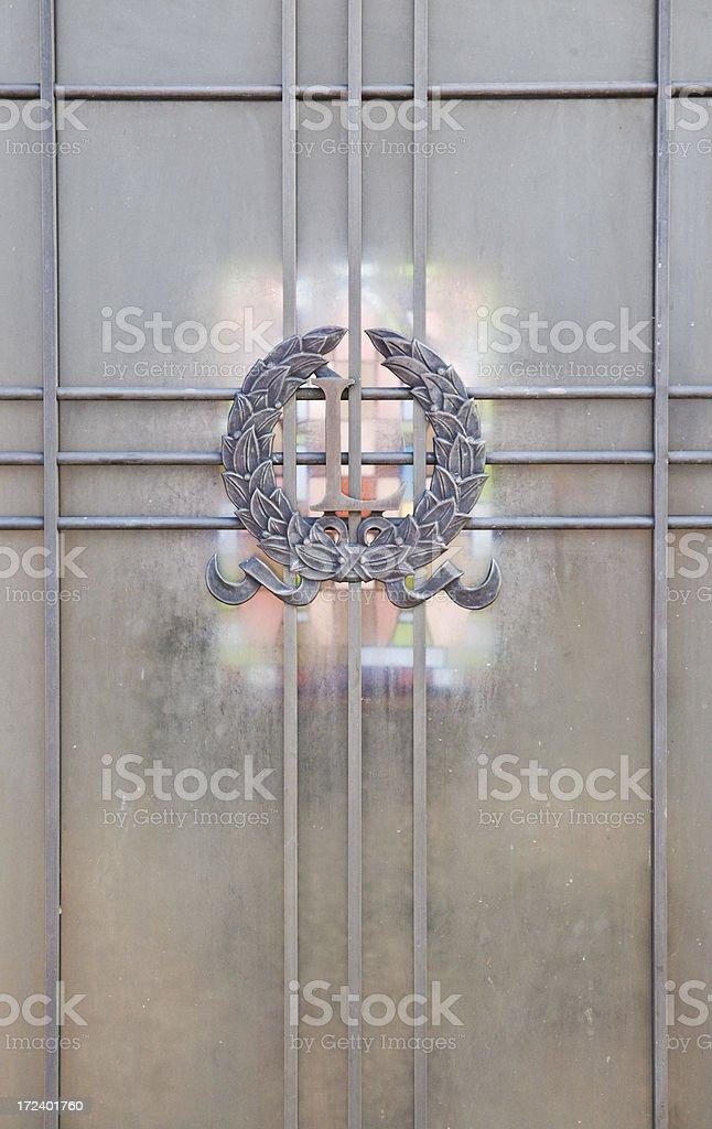 Old Mausoleum Door royalty-free stock photo