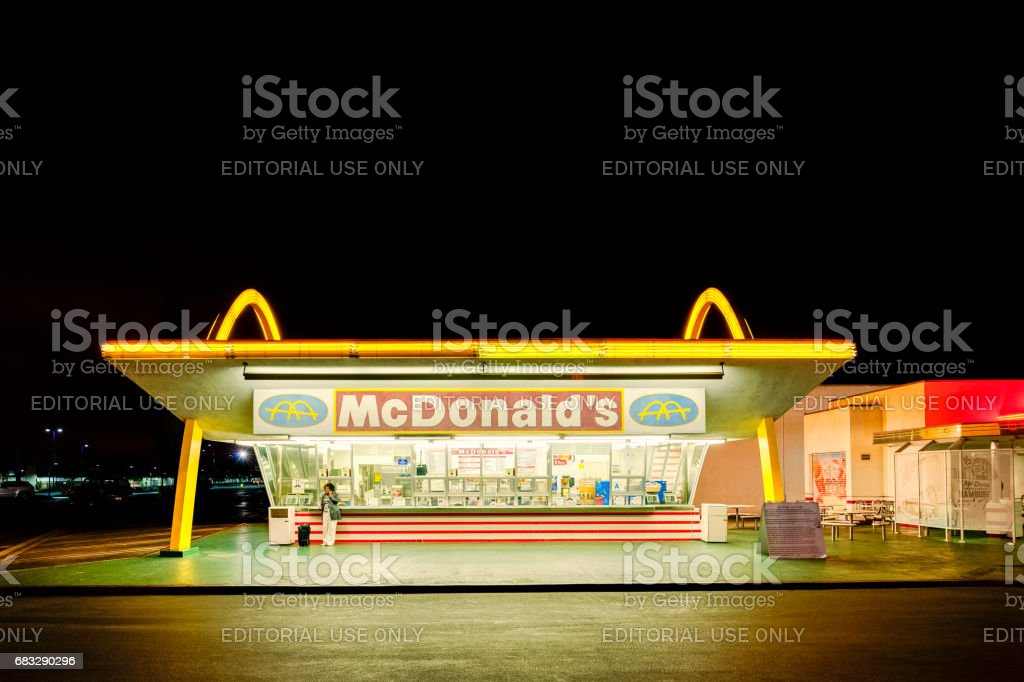 Old McDonald's restaurant in Downey, Los Angeles, California, USA stock photo
