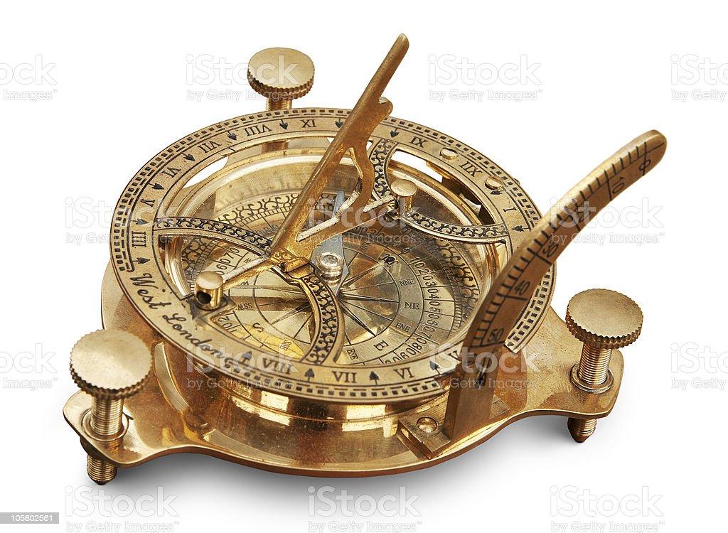 Old instrumento de medición de navegación - foto de stock