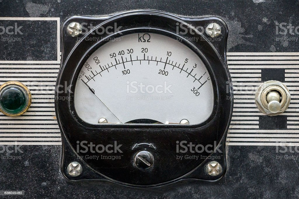 Old measuring instrument stock photo
