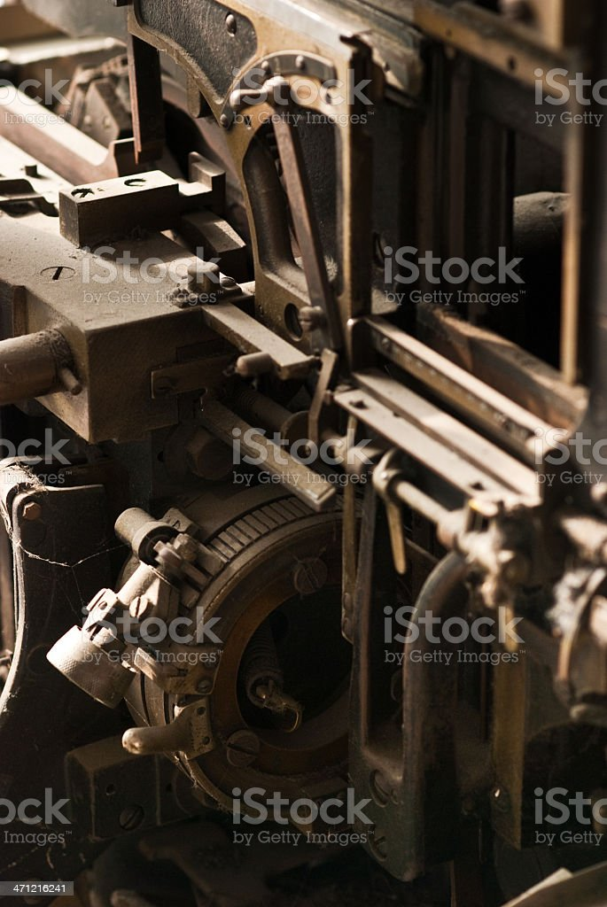 Old Mechanism - Linotype royalty-free stock photo