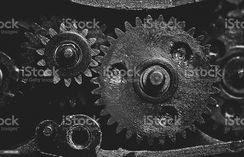 Old mechanism with pinions royalty-free stock photo