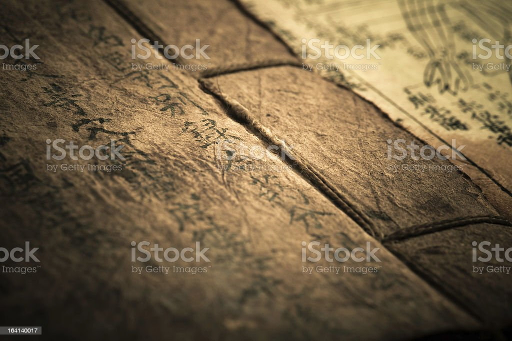 Old medicine book from Qing Dynasty royalty-free stock photo