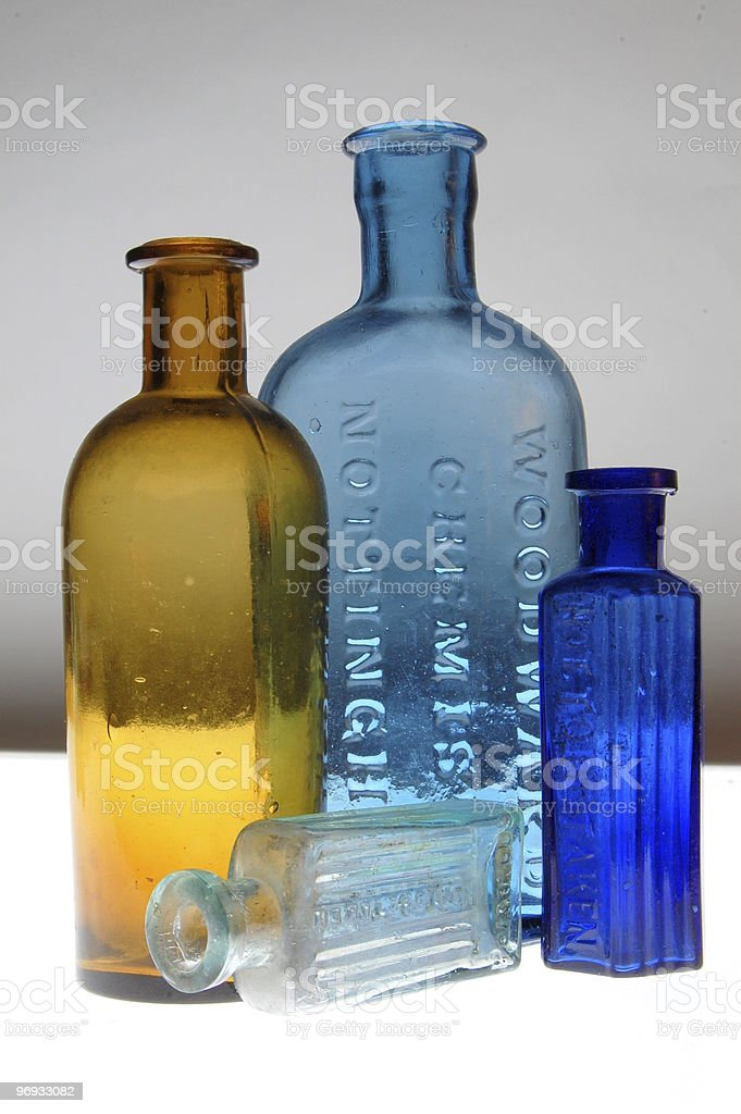 Old Medicine Bottles royalty-free stock photo