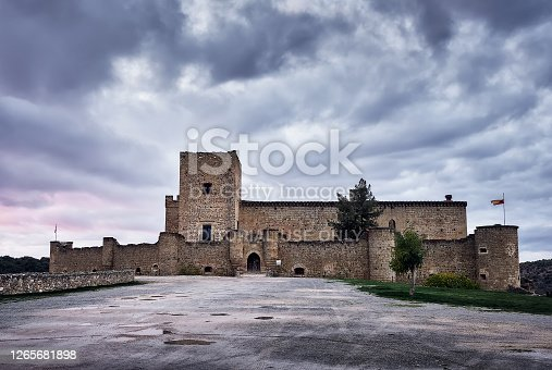 istock old medieval castle and city  of Pedraza in Segovia, Spain. 1265681898
