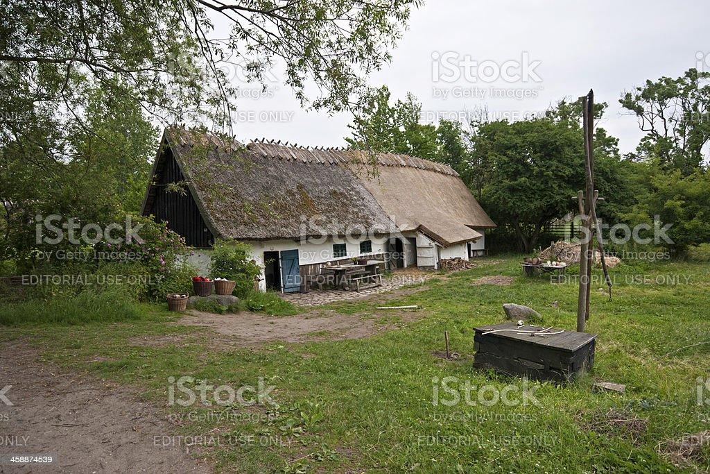 Old medieval half-timbered house, Sagnlandet Lejre, Denmark royalty-free stock photo