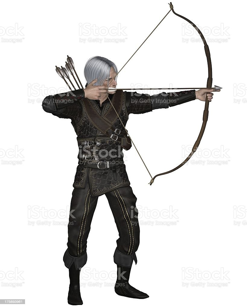 Old Medieval or Fantasy Archer stock photo