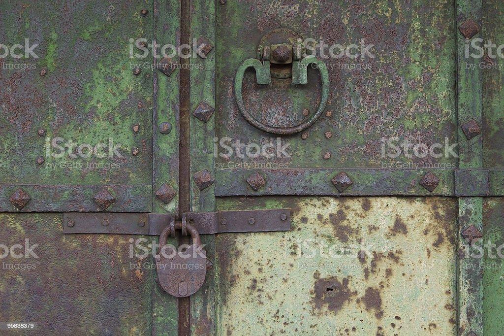 Old medieval rusty door royalty-free stock photo