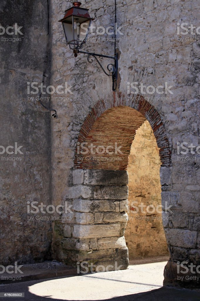 Old medieval town of Bonifacio, Southern Corsica Island, France stock photo