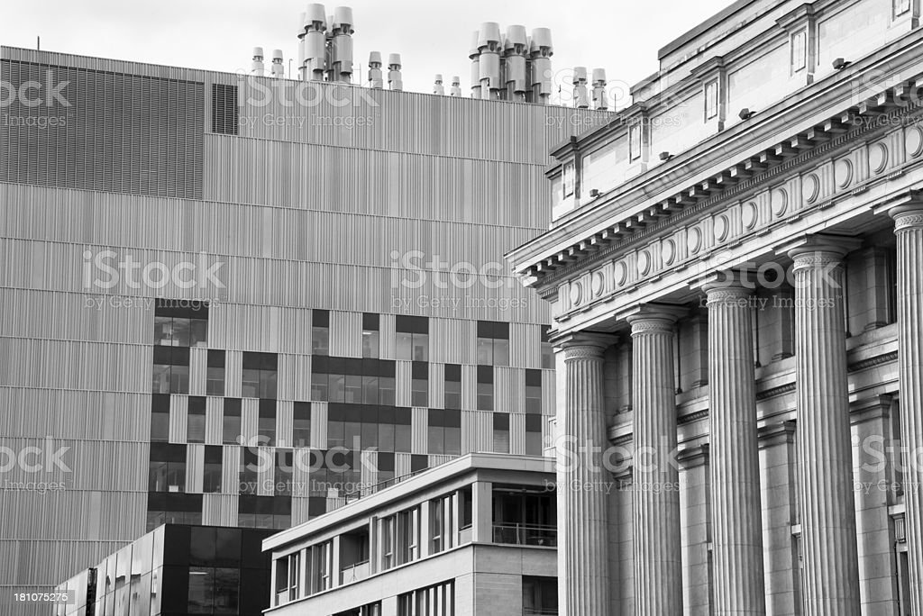 Old Meets New Lines royalty-free stock photo