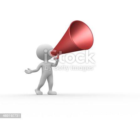 istock Old megaphone 469192731
