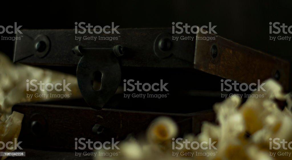 Old Memory Box close stock photo