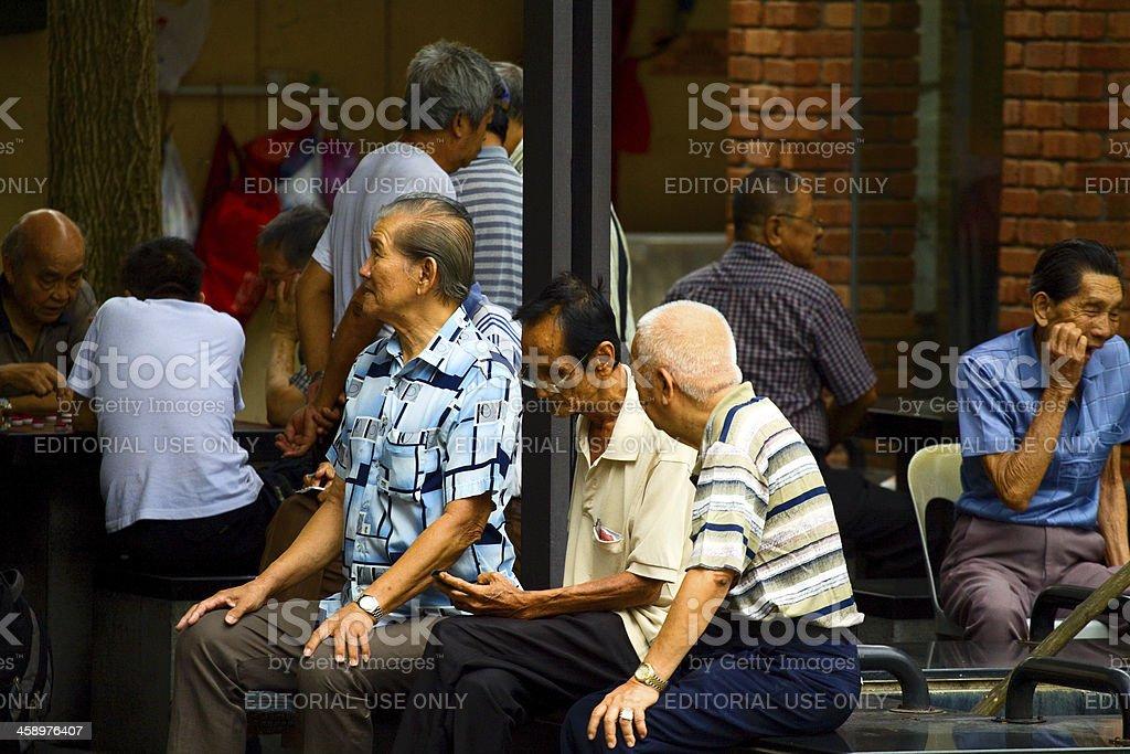Old men royalty-free stock photo