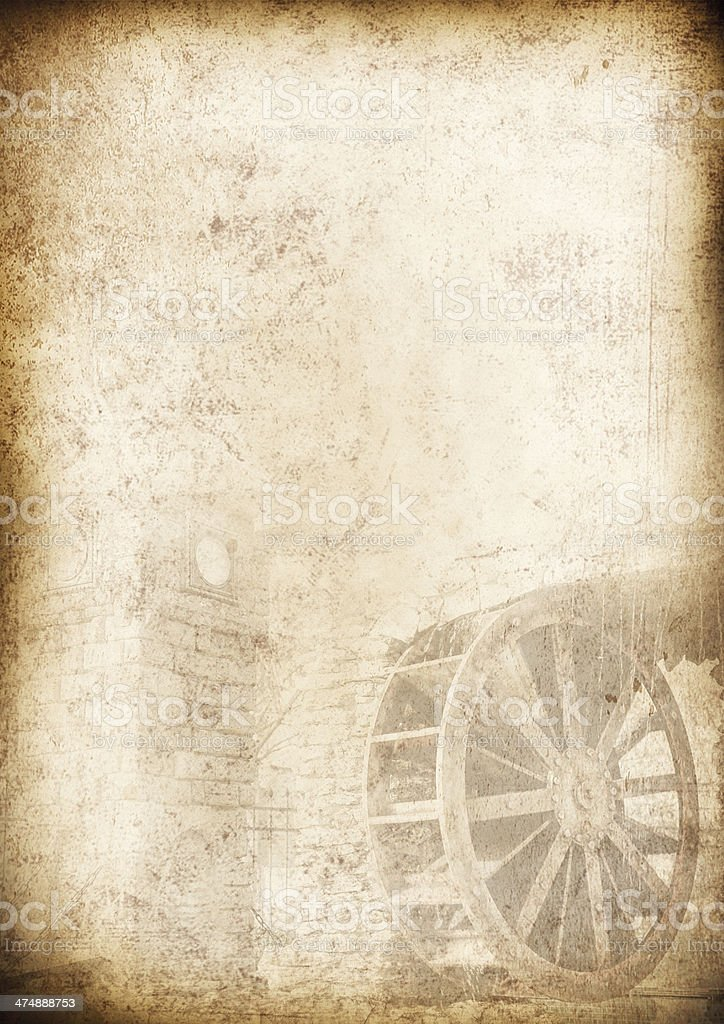 Old Menu Background Vintage Paper For Any Design Royalty Free Stock Photo